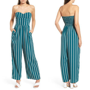 BAND OF GYPSIES Strapless Stripe Jumpsuit S